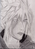 Cloud Strife (drawing 3) by Megaman-NetNavi