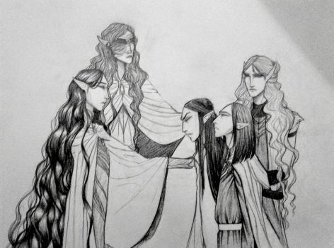 (Silmarillion) leaving behind the twins. by Grand-Maggot