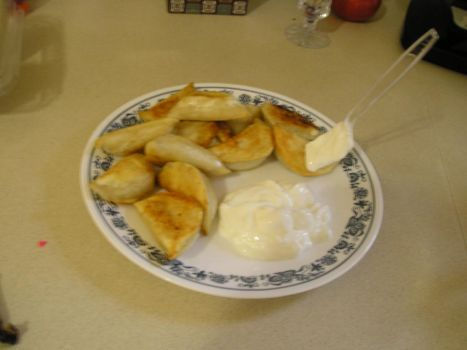 Perogies And Sour Cream! by thenuttydude15003