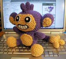 Aipom Crochet Plush by First-Mate-Kate