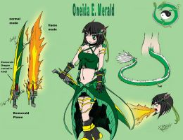 Oneida E. Merald- RWBY OC team VOID by Xengix008