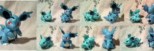 Tomy-style Nidorina Figure by Porcubird