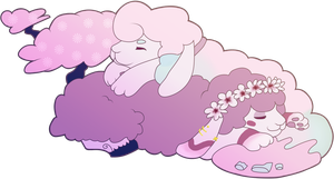 Nappy time Mel and Bombzai! by Teepy-adopts