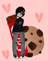 Karkat Kitkat Cookie by Nutty-Shark