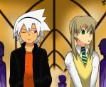 Another Maka and Soul's drawing by nicodiangelo555