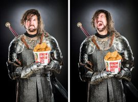 The Hound eats all the chicken in the room! by DavidCBaxter
