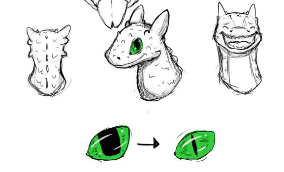 Stream Sketches (HTTYD2: Toothless) by dajordanator