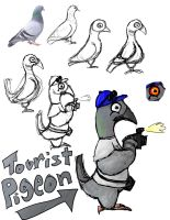 Tourist Pigeon by Metallicfire0