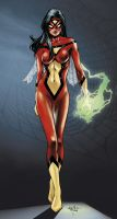 Spider-Woman - SYR colors by SpiderGuile