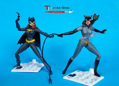 DC Collectable - Catwoman and Batgirl by zelu1984