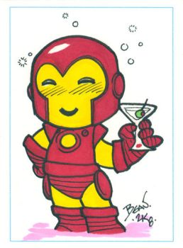 Chibi-Iron-Man ACEO. by hedbonstudios