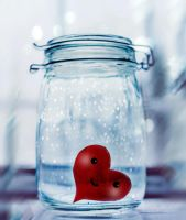 Heart in a jar by DianaGrigore
