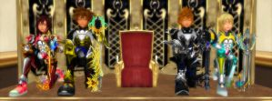 The Keyblade Knights - Full Knight Guard by rev-rizeup