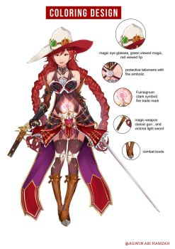 Character design Wich hunter by abiboge