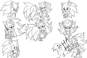 sonadow doodles by AliotRiver