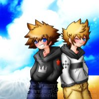 Sora and Roxas -Collab- by soraxkairi4ever