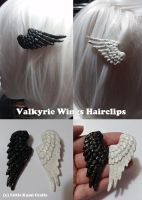 Valkyrie Wings Hairclips by lkcrafts