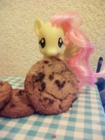 Fluttershy- Take a cookie! by DrPancakees