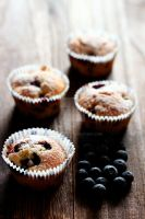 Blueberry Buttermilk Muffins by munchinees