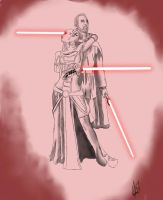 Dooku and Assaj Ventress by brobeck