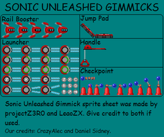 Sonic Unleashed Gimmicks by LeaoZX