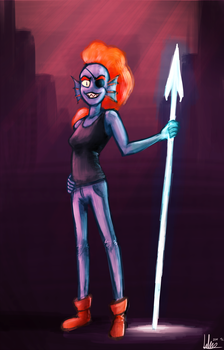 Undertale - Undyne by Khan-the-cake-lover