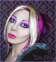. pink and purple comeback . by Countess-Grotesque