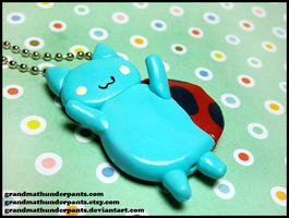 Catbug Necklace by GrandmaThunderpants