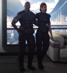 Anderson and Shepard by elyhumanoid