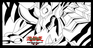 The winged dragon of Ra lineart by Evil-Black-Sparx-77
