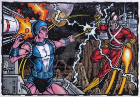 Kanjarro vs Adam Strange by tonyperna