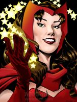 Scarlet Witch commission by mcguan