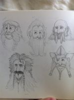 The Hobbit Dwarves WIP by Ashlmet