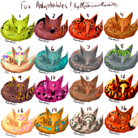 Fox Adoptables! FREE! [CLOSED] by MischievousRaven
