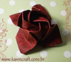 Kawasaki rose in fabric by KarenKaren