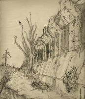 Perspective Drawing 1 City wall by ViggObscure