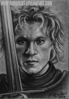 A Knight's Tale - Heath Ledger ATC by robdolbs
