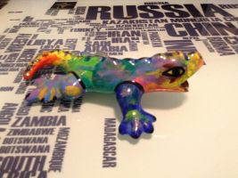 Ceramic Rainbow Lizard 2 by NINJAWERETIGER
