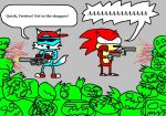 Chili and Twister vs Zombies by twisterfiendish