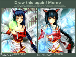 Draw it again! Ahri by GreenTea-Ice