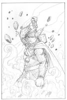 Thor, God of Thunder by duanenicholsart