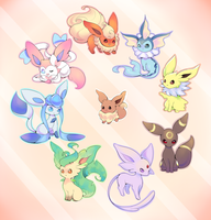 Eeveelutions by Joltik92