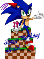 Happy B-Day Sonic by Starlight-Sonic