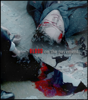 blood on the pavement. | Sherlock by Monsunwind