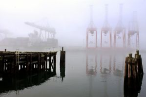 Waterfront Fog by lostshooter