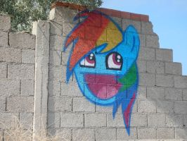 Rainbow Dash Awesome Face Spray Painting by M99moron