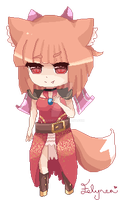 Fox Girl Pixel by Felynea