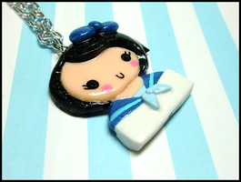 Sailor Girl Necklace by GrandmaThunderpants