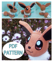 Evee plushie pattern by chocoloverx3