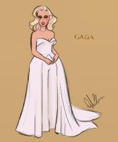 Lady Gaga at the Oscars by DylanBonner